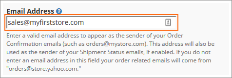 Setting up order confirmation and shipment status emails