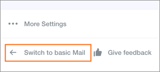Switch between versions of Yahoo Mail