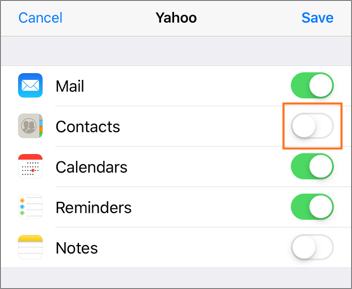 Sync your business email contacts in iOS